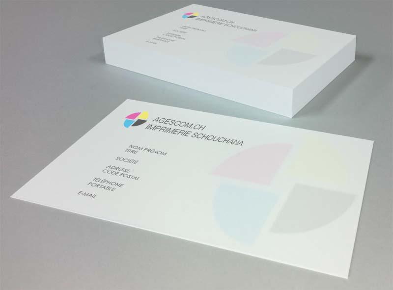 Cartes de visite en couleur