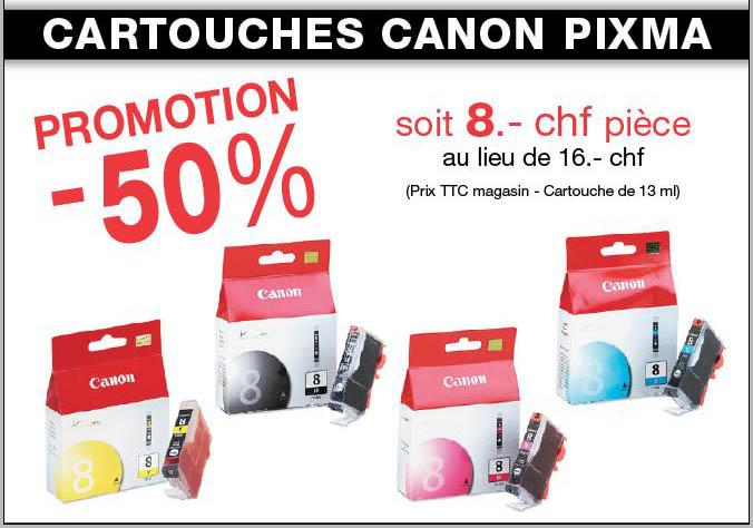 cartouche canon pixma promo