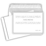 cartes de remerciements + enveloppes