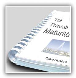 impreesion et reliure TM Travail de maturité imprimerie agescom geneve